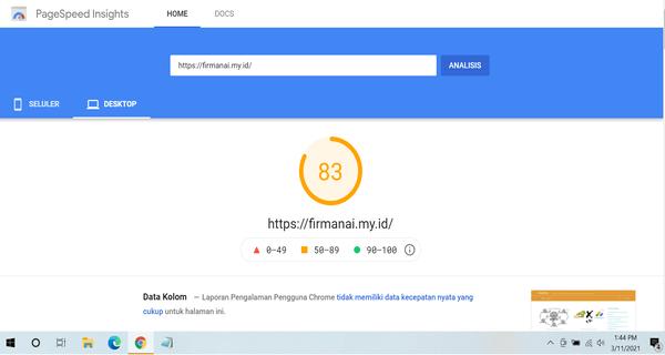 Google Page Speed Insights firmanai