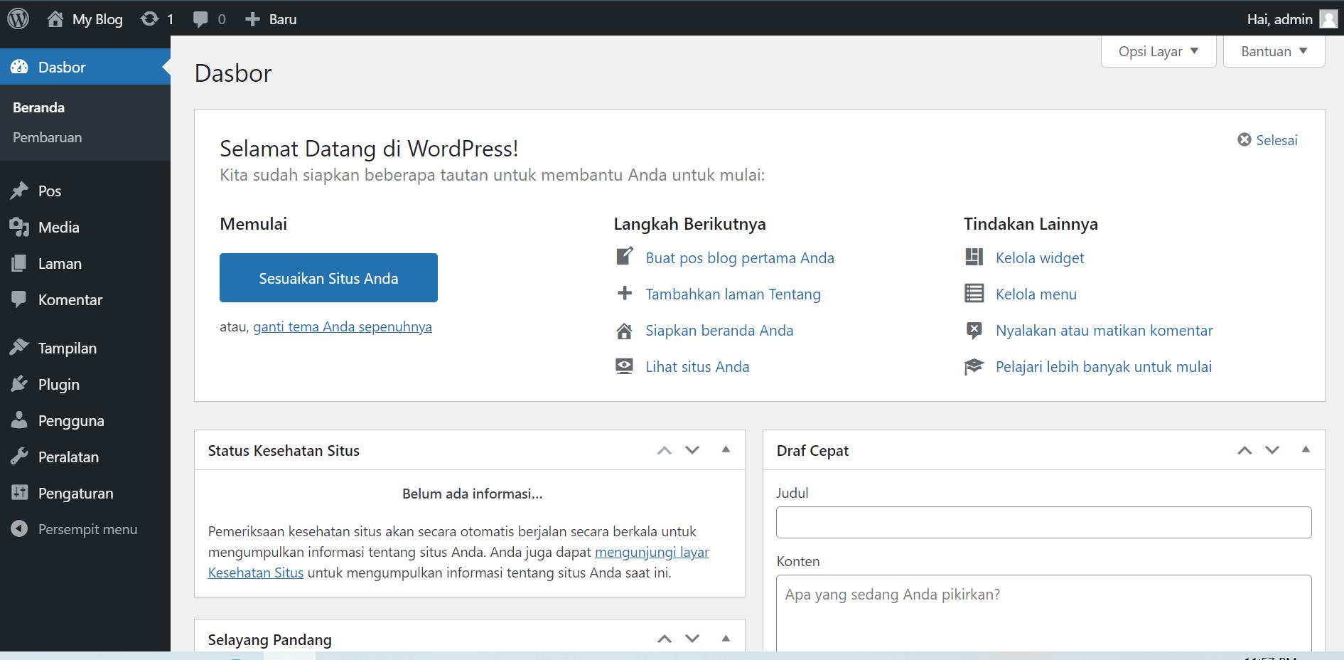 Tutorial Cara Membuat Website Dengan Domain Gratis dan Hosting Gratis dengan cms wordpress