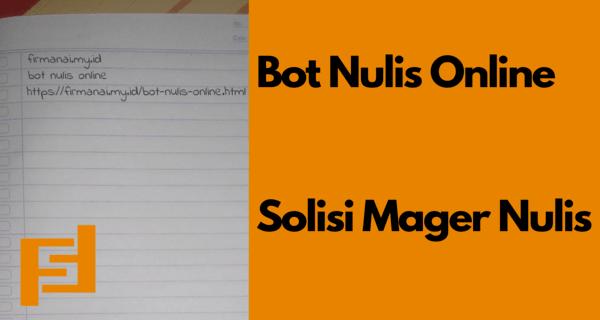 Bot Nulis Online Telegram